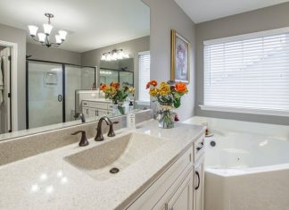 bathroom with good natural light