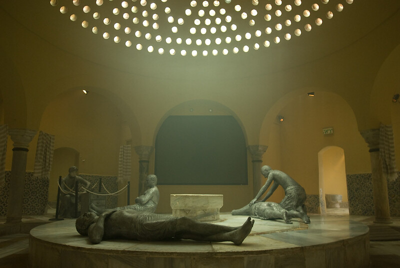 exhibit depicting Turkish bath
