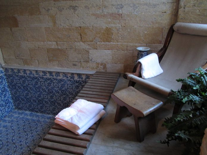 towels provided on a bath house