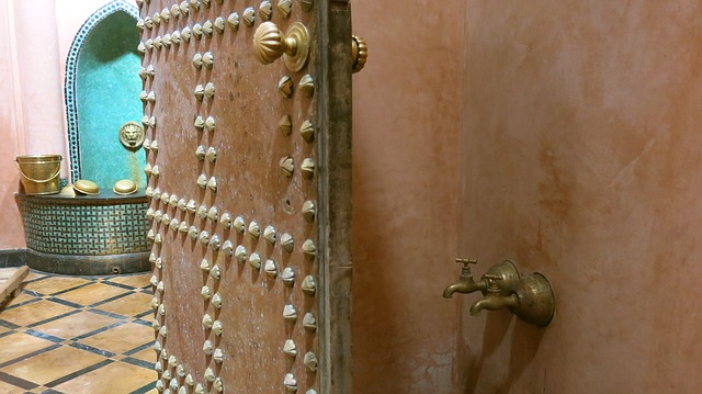 door of a turkish bath house