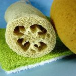 different colored washcloths face cloths loofah and bathsponge